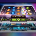 Online slots screens in front of the laptop