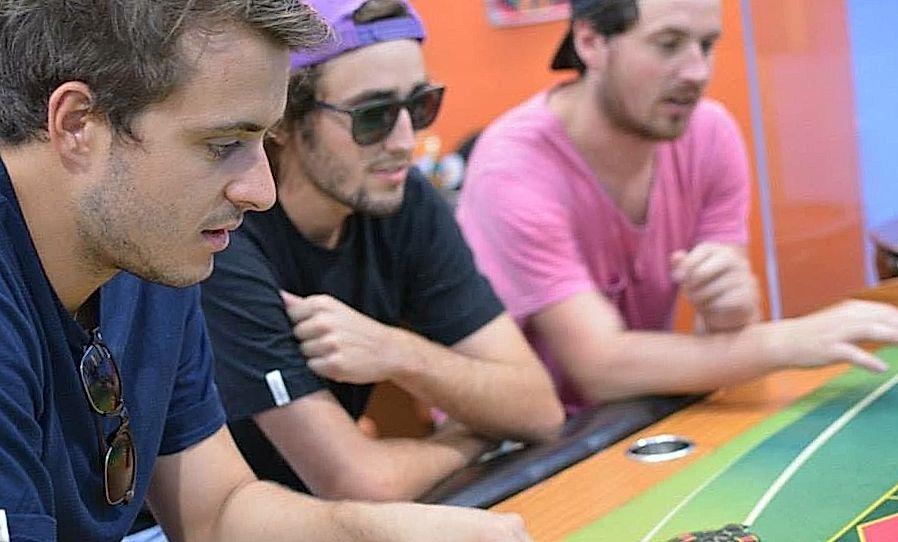 three boys-gamblers